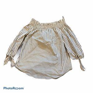 Kenzie NWT off shoulder striped shirt